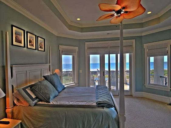 Great view from the bedroom of this Myrtle Beach home.