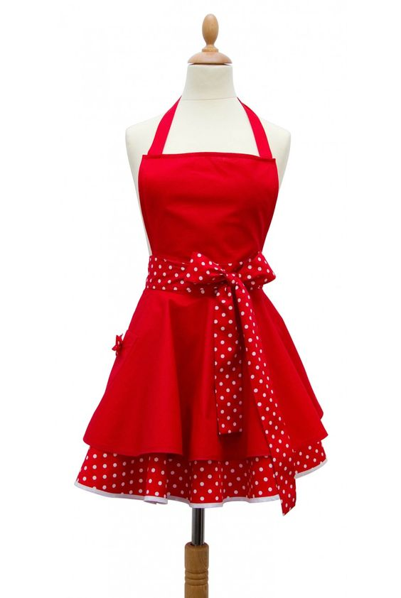 red aprons | COOKING APRONS 100% COTTON MADE IN FRANCE