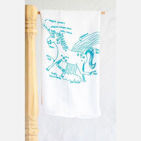 Unicorn tea towel. Awesome.
