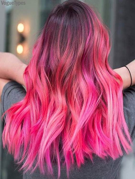 Updated Hairstyles Trends Beauty Fashion Ideas In 2020 Hair Color Pink Dark Pink Hair Hair Inspiration Color