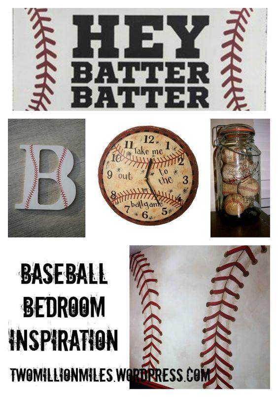 Baseball Bedroom Inspiration  Baseball  Pinterest  Baseball ...