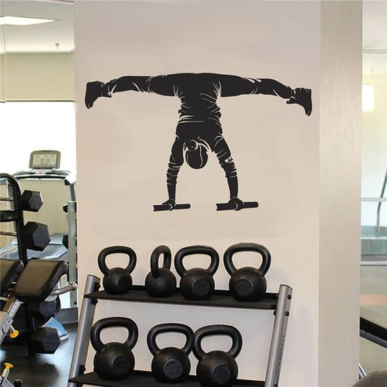 Street Workout Wall Decals Gymnastic Exercise Wall Sticker Etsy Gym Wall Decal Decal Wall Art Gym Wall Decor