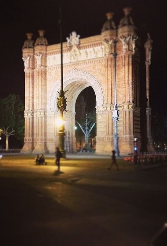 Barcelona in Barcelona, Cataluña this is a picture I took of the monument Arc De Triump