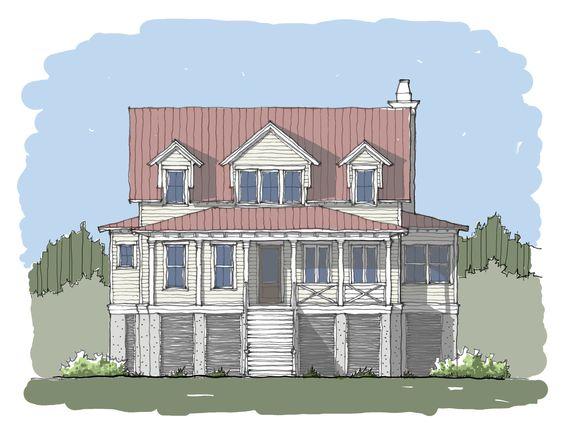 Bay Collection — Flatfish Island Designs — Coastal Home Plans