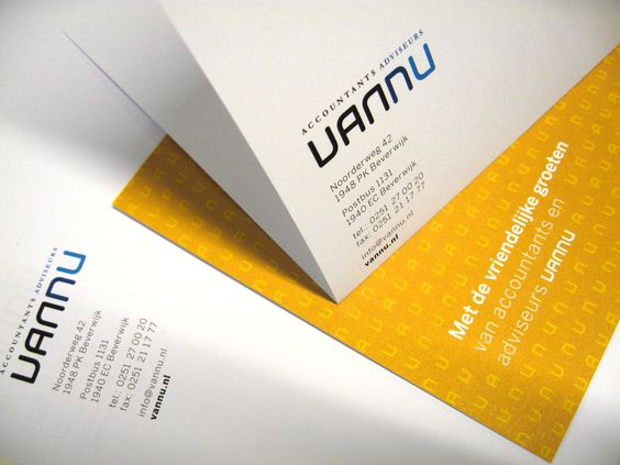 Vannu stationary design by Sixtyseven: detail of letterhead and complements card.