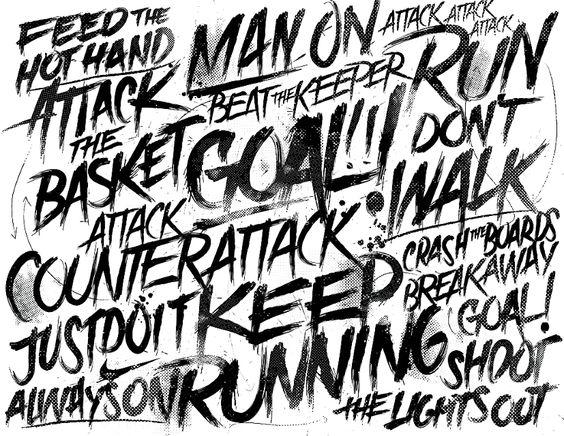 lettering, Nike