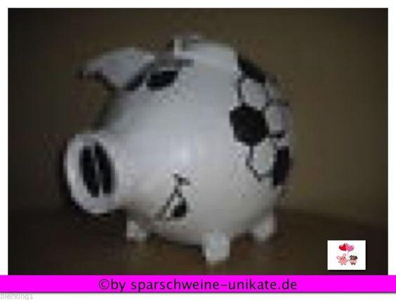 Sehr grosses Sparschwein,Geldgeschenk,Geschenkidee-Fussball-Fussballverein - Box