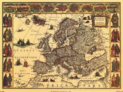 A old map of Europe
