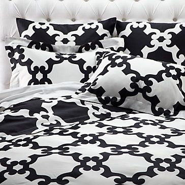 Guess I will have to start preparing for our beloved old black and white bedding to die.  Oh it will be so painful.