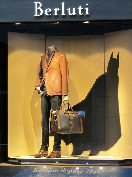 """Berluti, Milan, Italy,Batman: The Caped Crusader, """"It's not who i am underneath,but what I do that defines me"""",pinned by Ton van der Veer"""