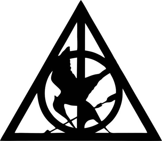 Deathly Hallows/Mockingjay sticker. Just ordered this.