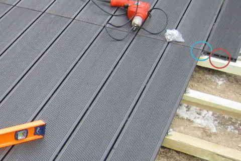 Comment Poser Une Terrasse Composite Sur Lambourdes Et Plots Terrasse Composite Terrasse Et Terrasse Bois Composite
