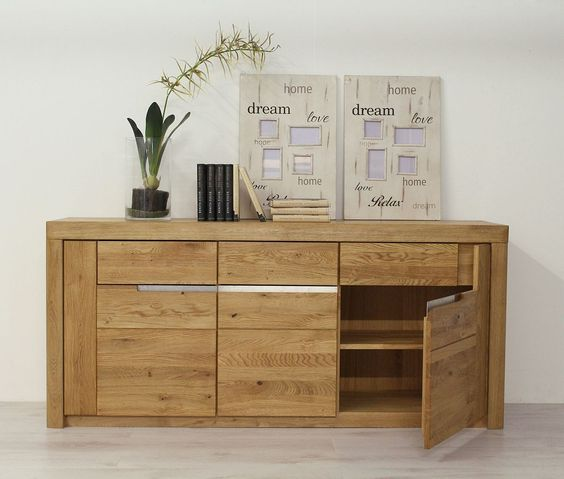 Sideboard Wildeiche massiv Solido - Made in Germany