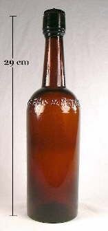 "The bottle could be considered a transitional bottle that dates from 1861 to about 1870.  It was blown in a three-piece mold and most definitely held liquor as labeled examples have been observed noting that they contained ""Old Bourbon Whiskey."""