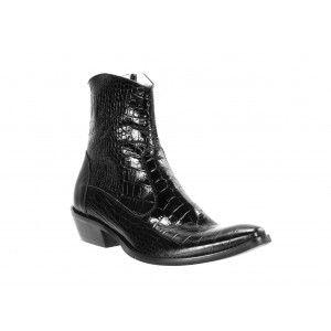 Pánské kožené kovbojky černé