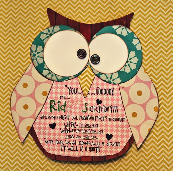 Night Owl party idea for Blythe...she wants a PJ party with an owl theme so here we go!
