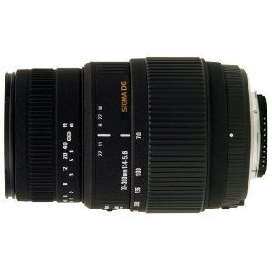 Sigma 70-300 mm F4,0-5,6 DG Makro-Objektiv (62 mm Filtergewinde) für Canon Objektivbajonett. DREAM!!