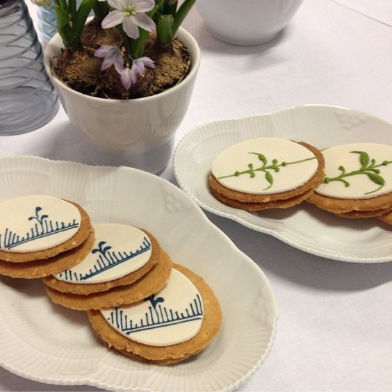 Royal Copenhagen blue fluted cookies