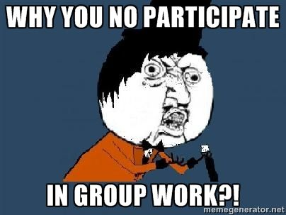 Group members not contributing