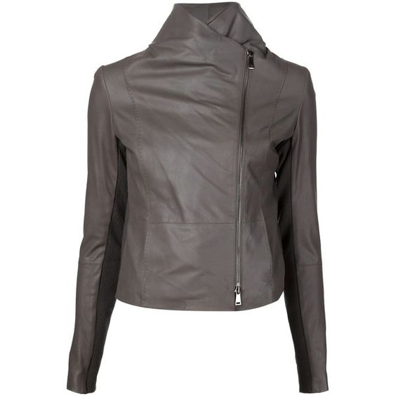 Vince Off-Centre Zip Jacket ($995) ❤ liked on Polyvore featuring outerwear, jackets, brown, zipper jacket, zip jacket, brown jacket and vince jacket