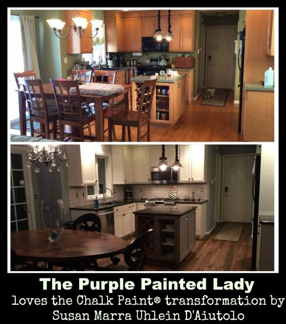 The Purple Painted Lady Another Kitchen Chalk Paint