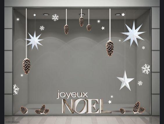 Stickers Noel pomme de pin avec étoiles en volume