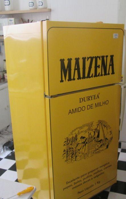 Envelopamento de Geladeira Caixa de Maizena - ENV0561: