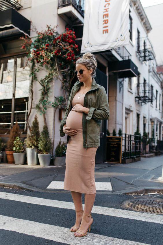 Летний лук для беременных