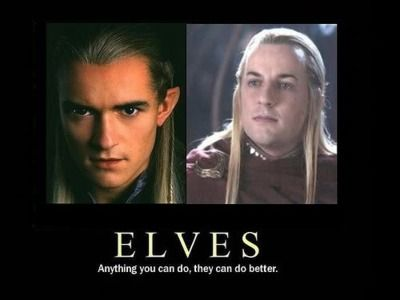 That just about sums up the Elven race.