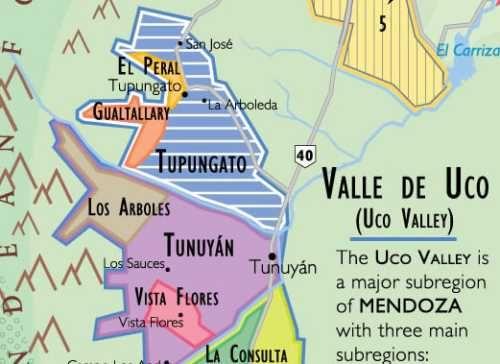 Detail Map Of Mendoza Wine Region In Argentina Maps Of Wine - Argentina regions map