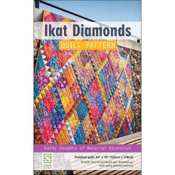 Pattern  Ikat Diamonds Quilt Pattern  Kathy by OakHillFabrics