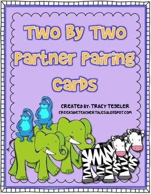 Second Grade Freebies: Animal Card, Students Pair, Pairing Students, Teacher Stuff, Teacher Help, Teacher Goodies, Students Draw, Creekside Teacher, Organized Teacher
