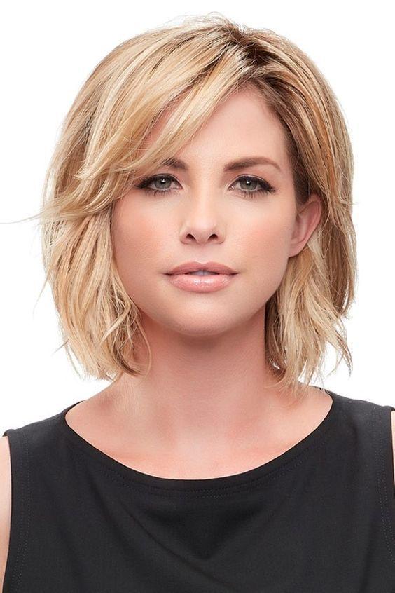 Short To Medium Hairstyles For Fine Hair Frisuren Haarschnitte Haarteil Haarschnitt