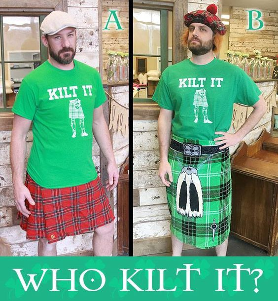 Kilt It - Hand drawn artwork-St. Patrick's Day Shirt - CR by Nestingproject on Etsy