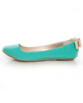 turquoise patent back bow ballet flats: Ballet Flat, Perfect Color, Colorful Ballet, Graduate, Roommate, Indian Color, Colored Flats, Pretty Colored