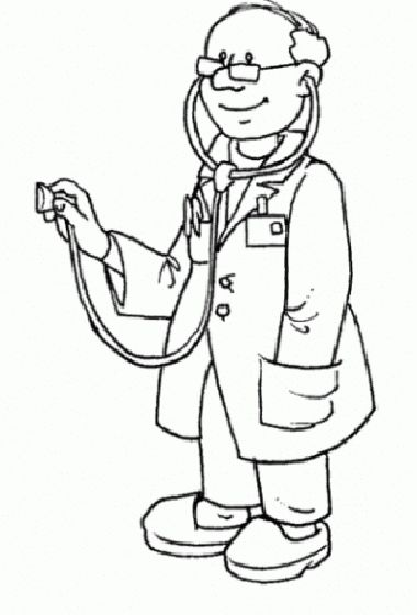 kid doctor coloring pages - photo#17