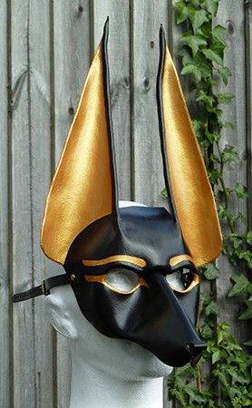 Masquerade Ball Masks: unique masquerade masks by maskmaker Helen Rich   Masks Gallery   Egyptian   Anubis, Guardian Of The Gates