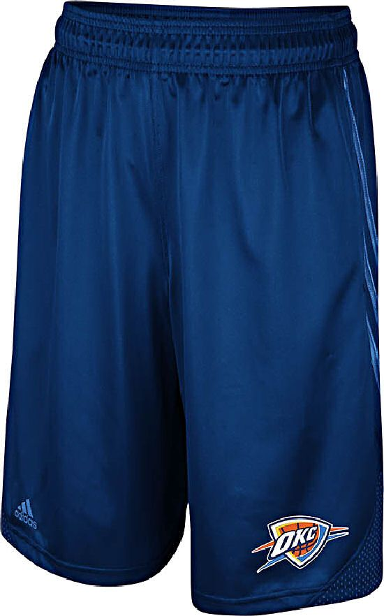 Oklahoma City Thunder Blue Embroidered 12 inch Inseam Hoop Shorts by Adidas $39.95