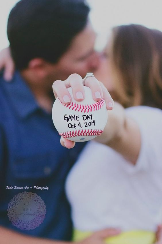 Baseball Engagement #wildheartsphotography