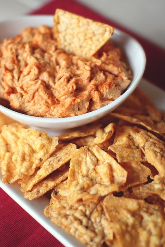 Cheesy Buffalo Chicken Dip made this for football and it was a big hit ...