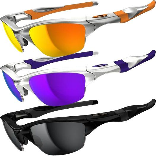 oakley sunglasses half jacket 2.0  oakley half jacket 2.0 sunglasses: interchangeable lens for changing light conditions. high definition optics