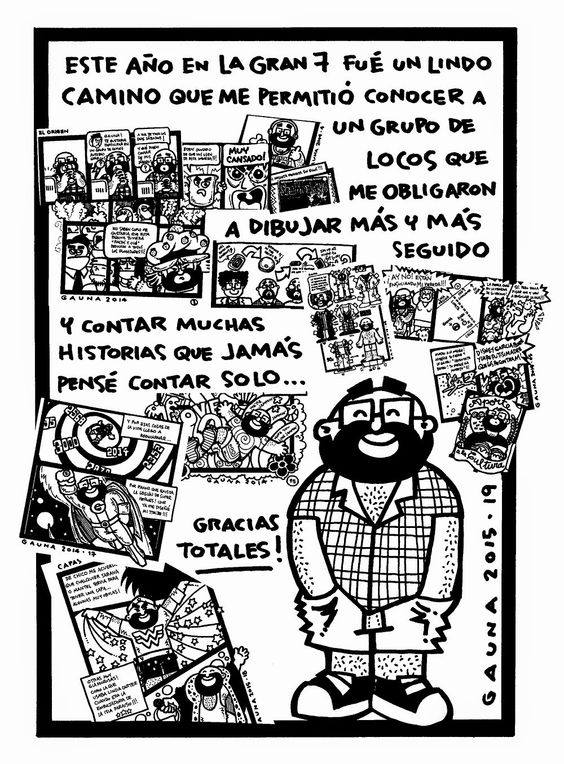 GAUNA: COMIC AUTO-BIOGRAFICO: LA GRAN 7: FIN DE TEMPORADA 2014