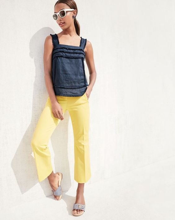 J.Crew women's Teddie pant. In new extra-bright colors.: