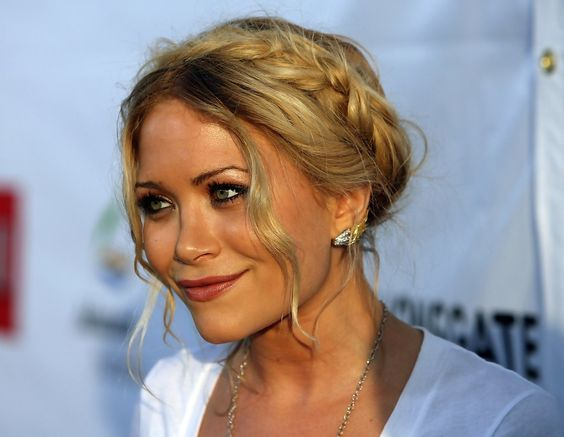 Mary-Kate Olsen   braided crown up-do