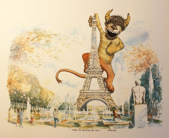 """With a nod to Maurice Sendak's, """"Where the Wild Things Are"""", this is my """"Where the Wild Things Are Now""""...apparently, hanging out in posh places like Paris, France!  © 2013 Tamara David"""