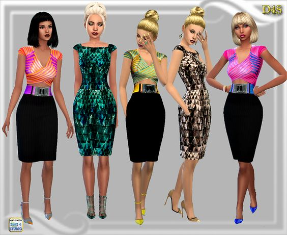 Sims 4 CC's - The Best: Dresses by Dreaming 4 Sims