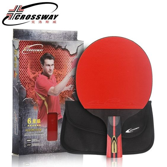 Crossway Professional 6 Star Table Tennis Racket Case Horizontal Double Grip Pimples In Rubber P Table Tennis Racket Ping Pong Table Tennis Table Tennis Bats