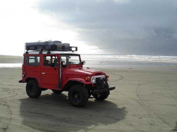 roof rack on the beach
