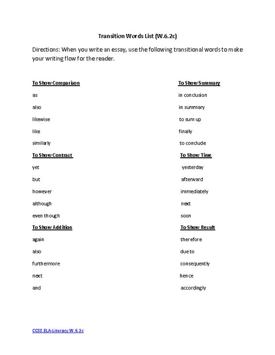 transition words for 5th grade essays So let's take a look at some of the most common mistakes i see with the use of transition words for essays transition by your grade in english.