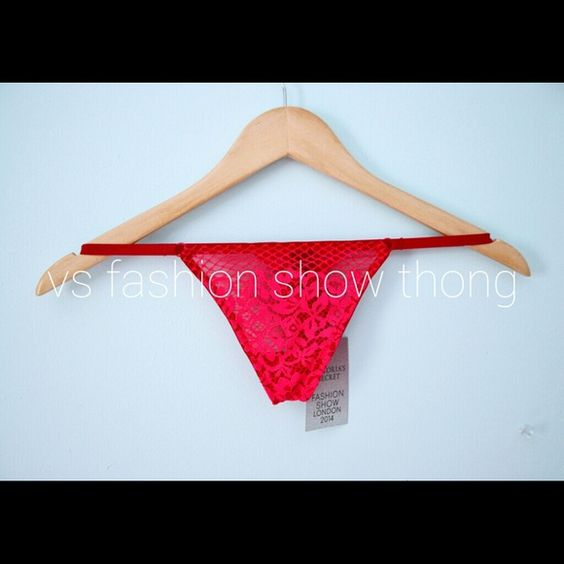 Victorias Secret Fashion Show Thong 2014 I have this in a small and medium. Victoria's Secret Pants